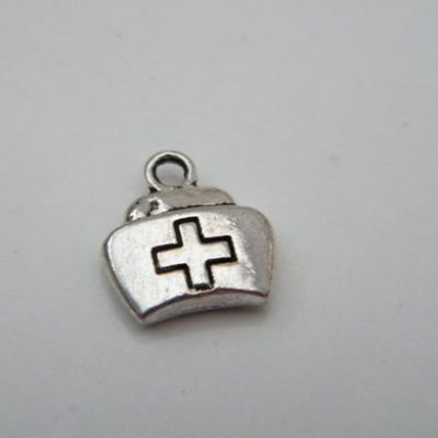 Nurse Hat Personalised Wine Glass Charm